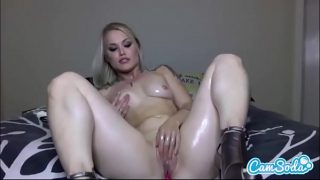 Ash Hollywood sexy big ass blonde rubbing and masturbating her wet pussy.