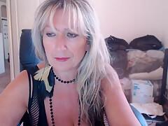 My huge boobs granny is so horny
